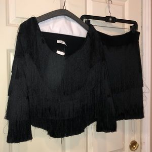 Fringe top and skirt